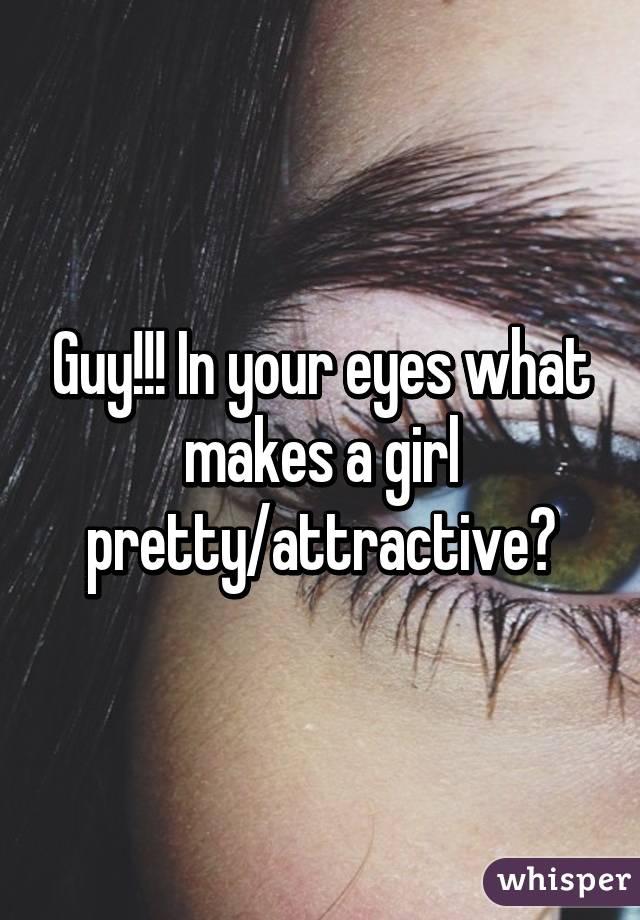 what makes a girl pretty