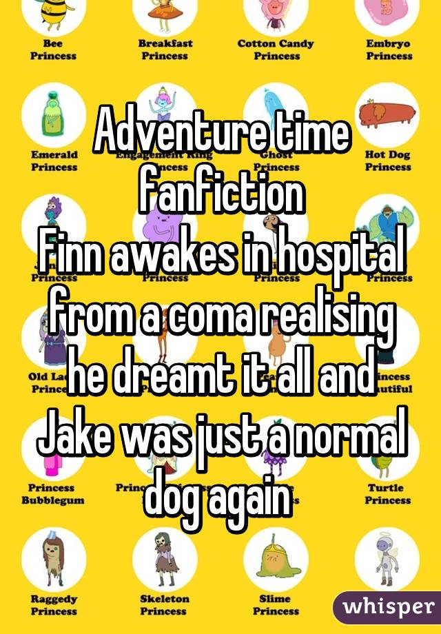 Adventure Time Fanfiction Finn Awakes In Hospital From A