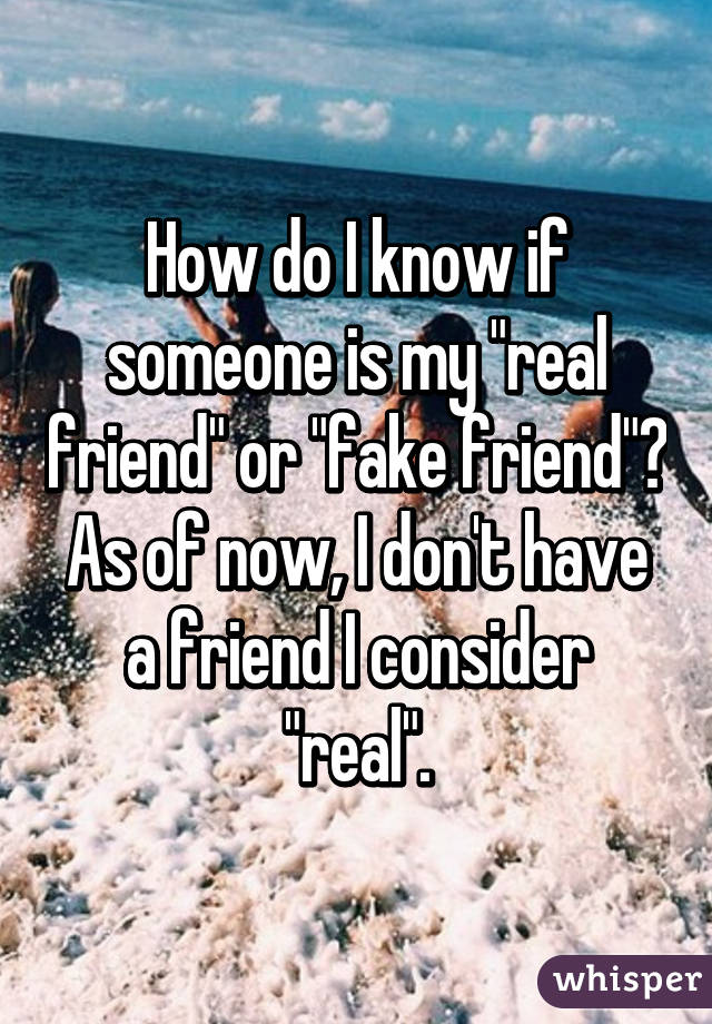 How do I know if someone is my