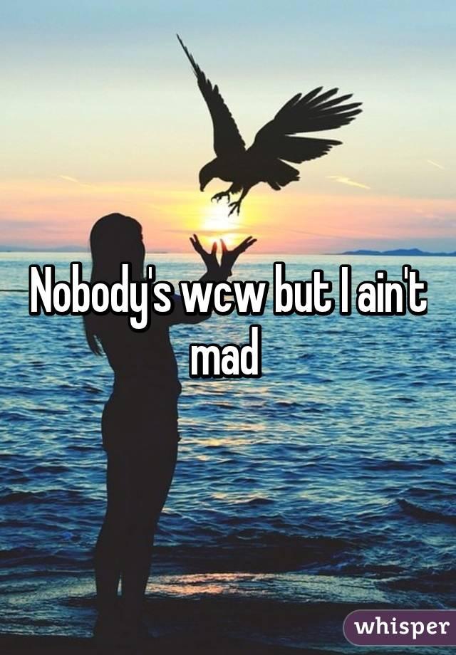 Nobodys Wcw But I Aint Mad