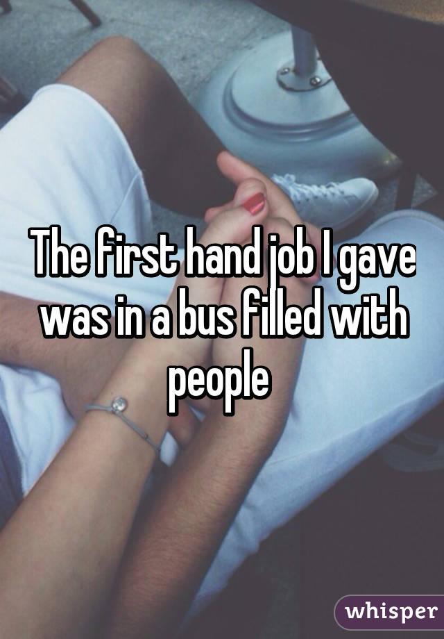 Gave my first hand job