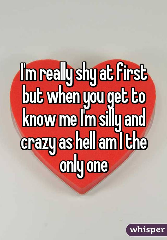 Only shy at first