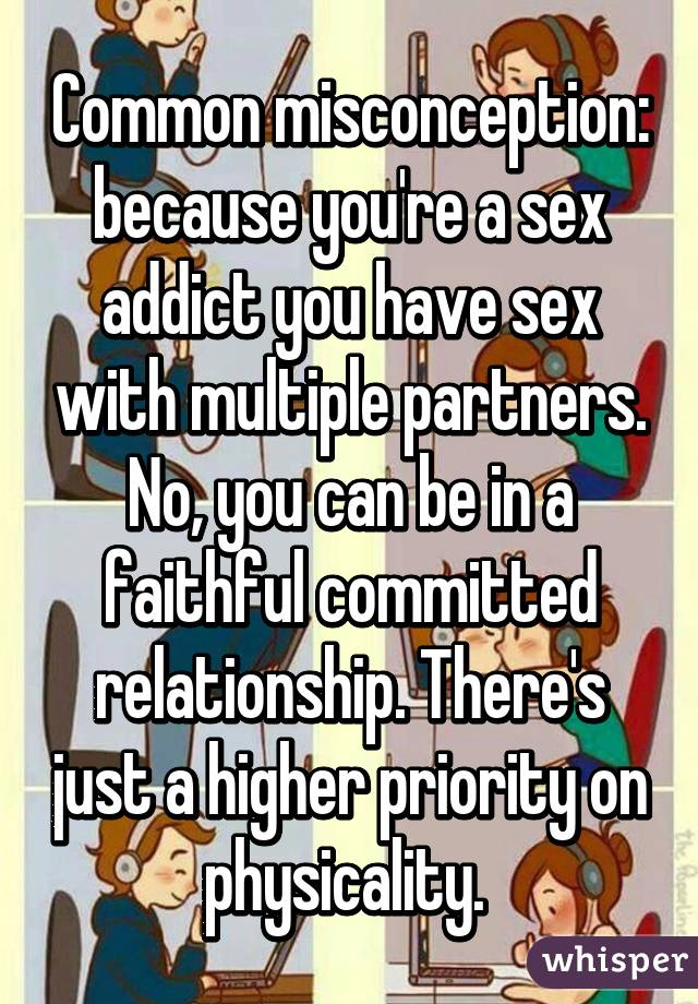 Can sex addicts be faithful