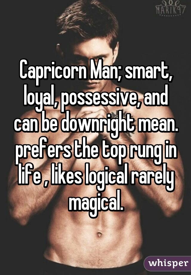 Capricorn man possessive