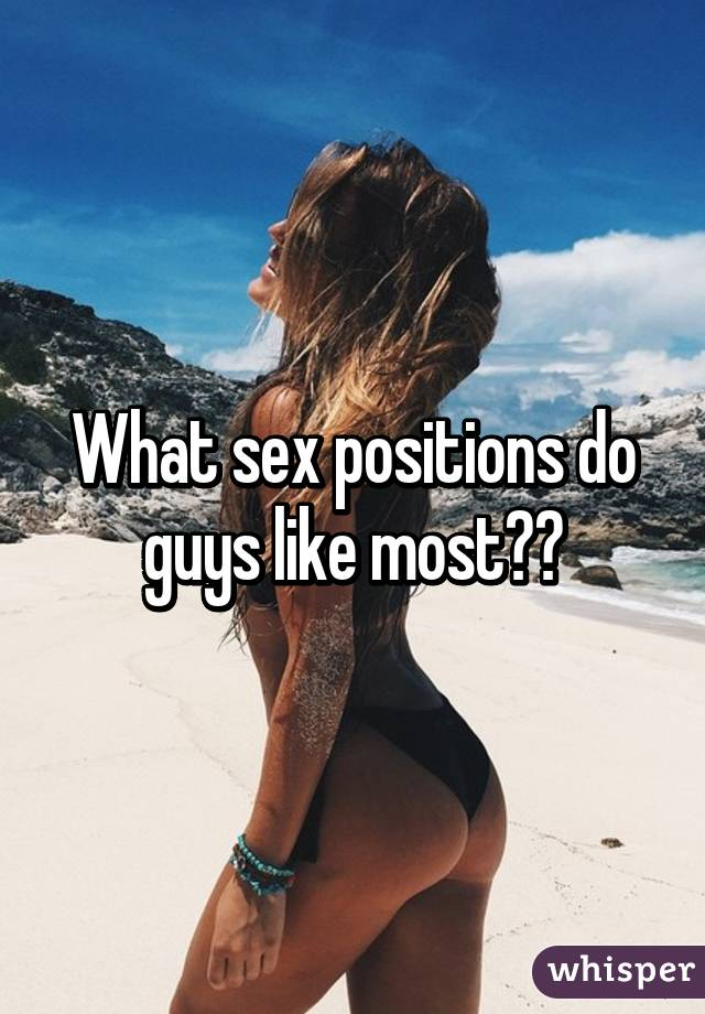 What Do Men Like Most About Sex