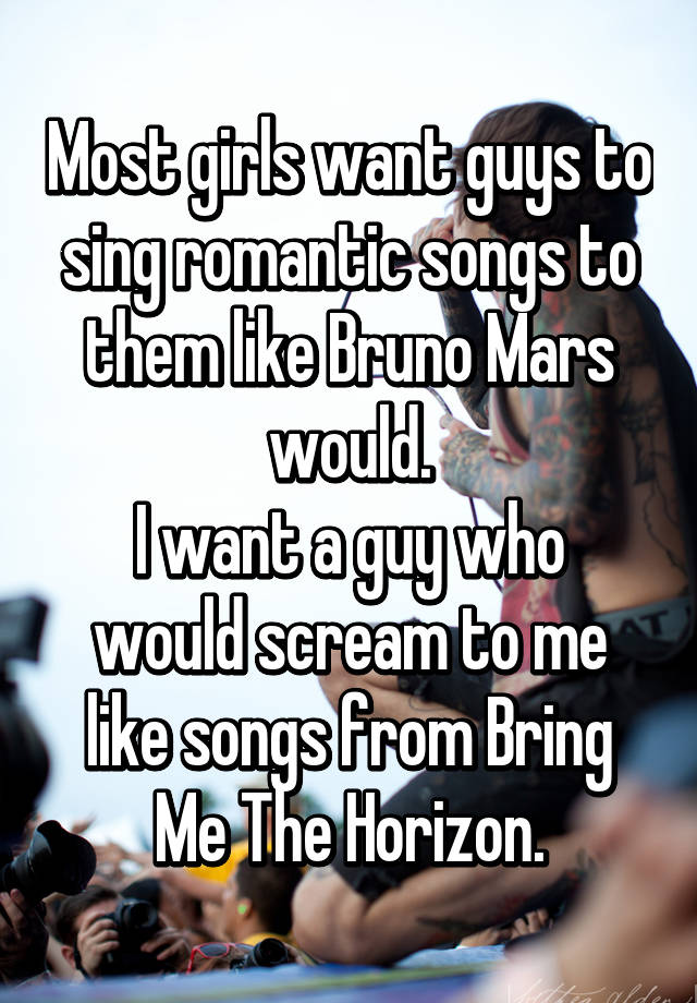 songs to sing to a guy