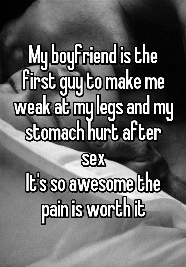 After Stomach sex hurts