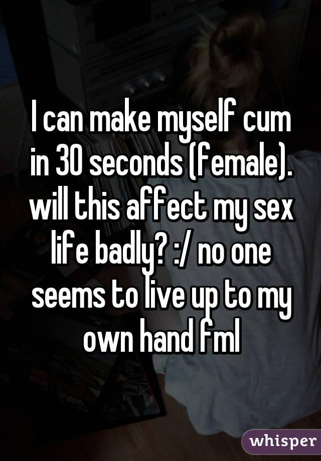 cum in 30 seconds