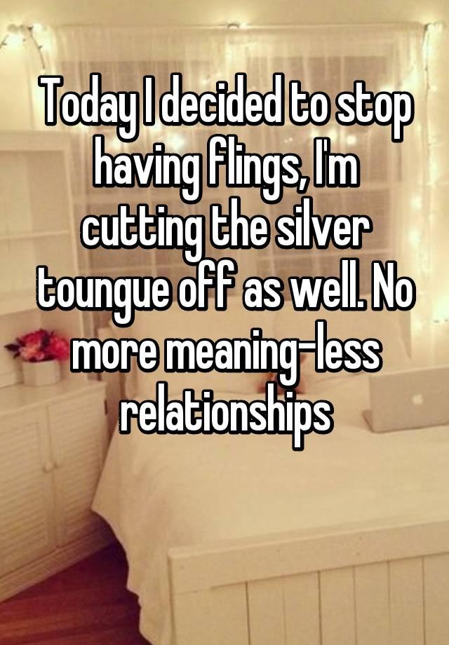 Flings relationships