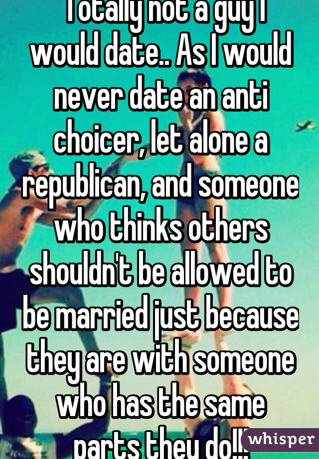 Dating a republican guy