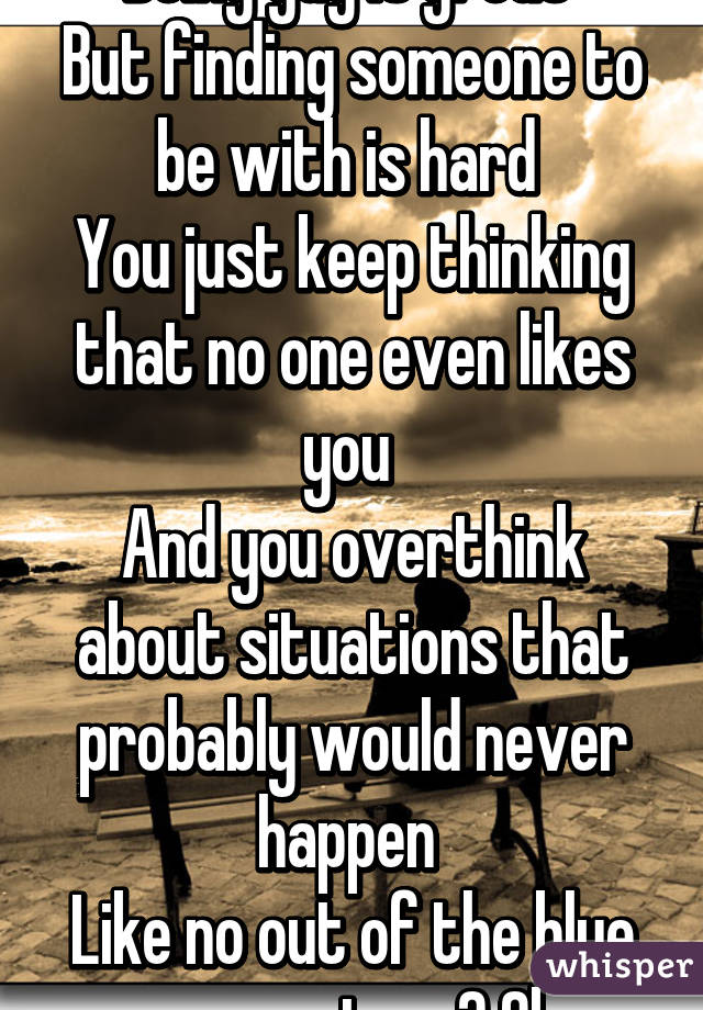 If you keep thinking about someone