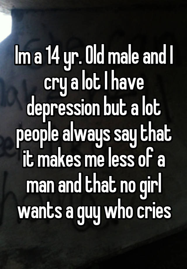 people who cry a lot