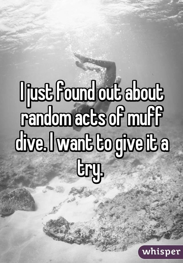 Random acts of muff