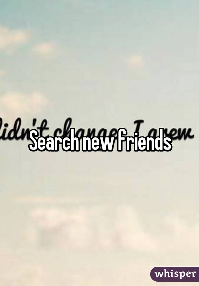 Search new friends online