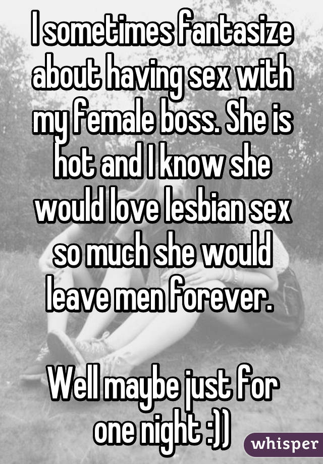 sex with my female boss