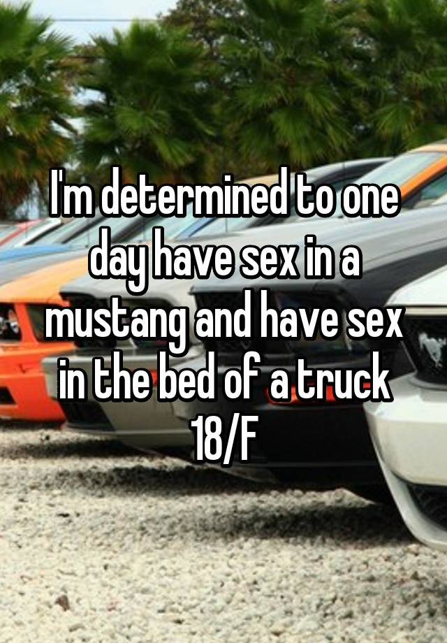 Sex in a mustang pics