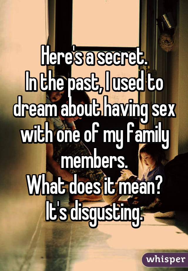 What does dreaming about having sex mean