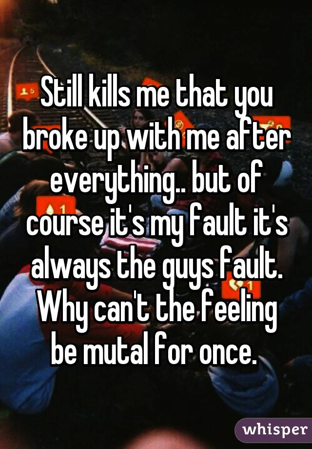 Mens feelings after a break up