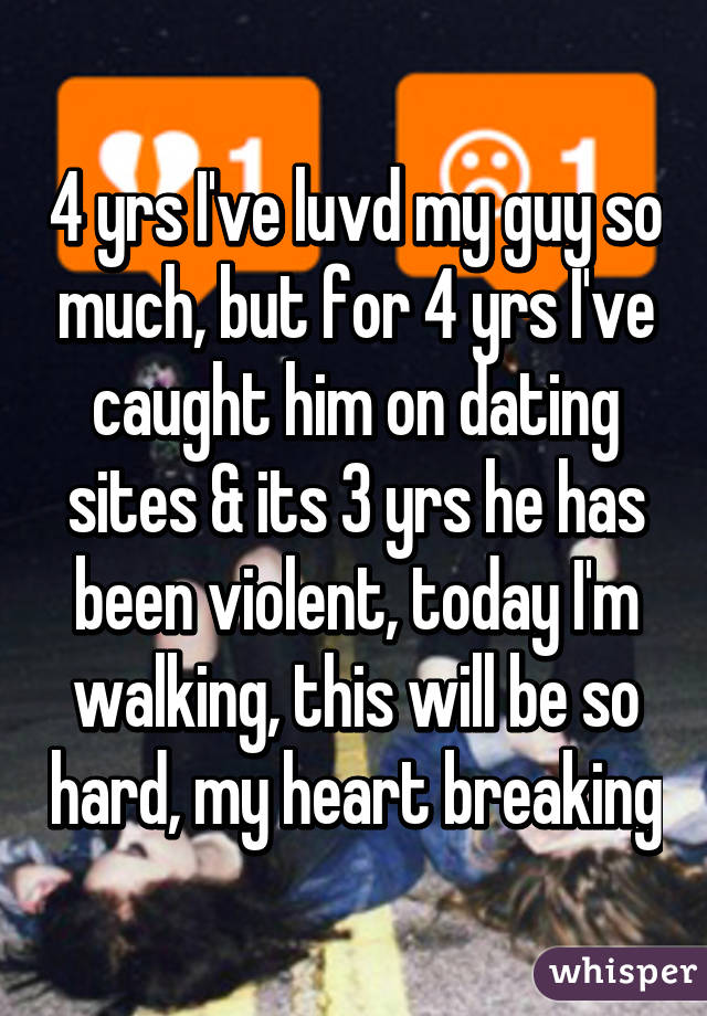 I caught my bf on a dating website