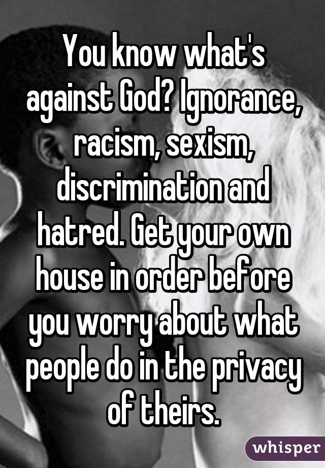 ignorance fear racism Ignorance + fear = racism racism is really another word for ignorance it's another way of saying that nature should have had only one type of flower or tree it's another way of looking at the world with your eyes closed to diversity.