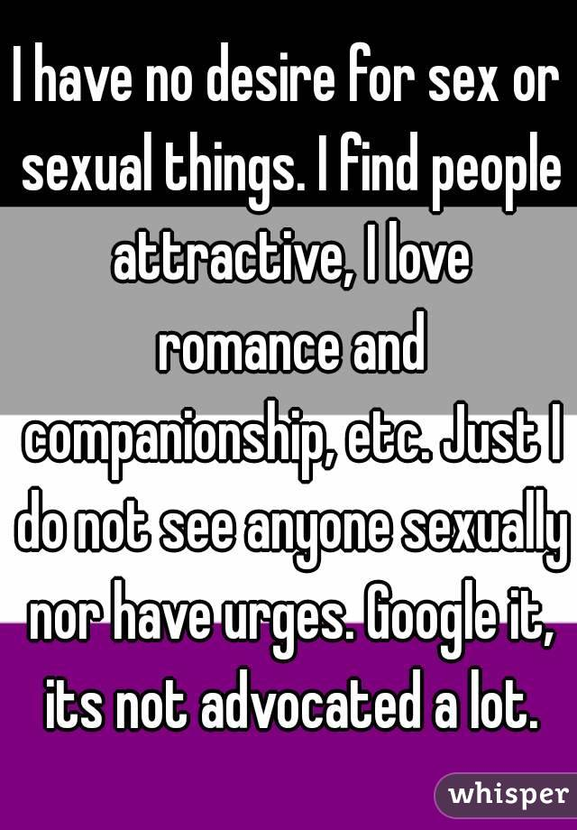 Why do i have no desire for sex