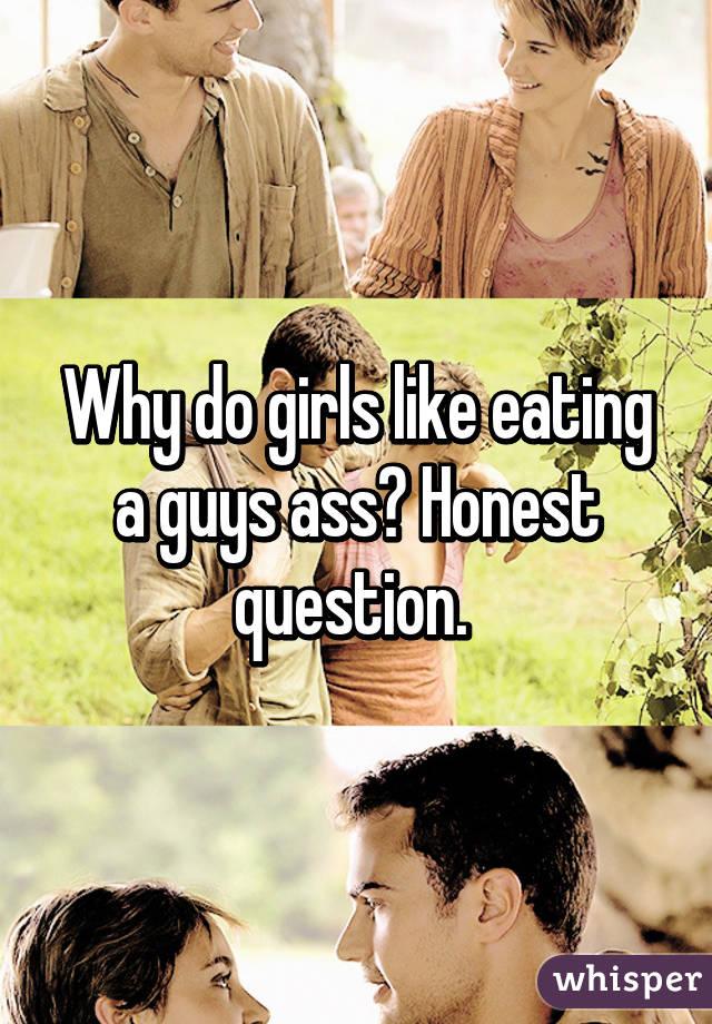 Girl eating guys ass