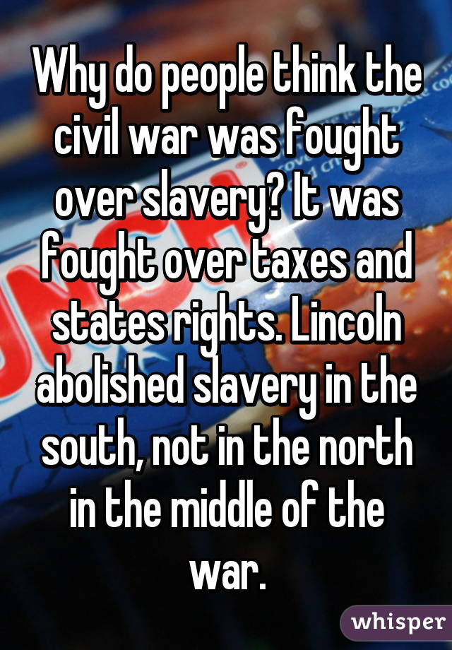 civil war fought over