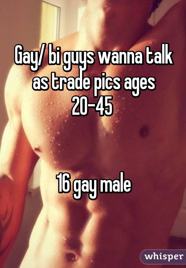 Gay/ bi guys wanna talk as trade pics ages 20-45    16 gay male