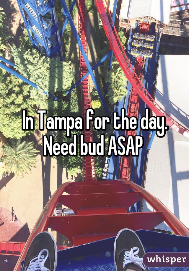 In Tampa for the day. Need bud ASAP
