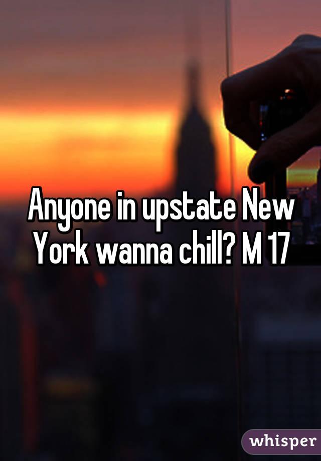 Anyone in upstate New York wanna chill? M 17