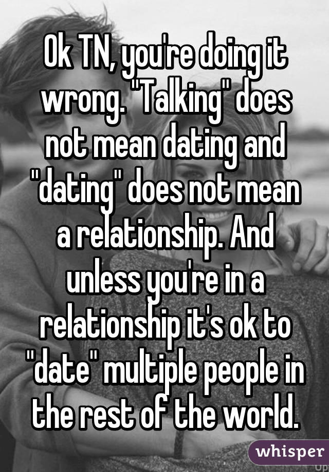Does Dating Mean Youre In A Relationship