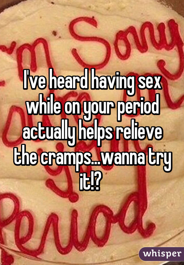 Does having sex help cramps