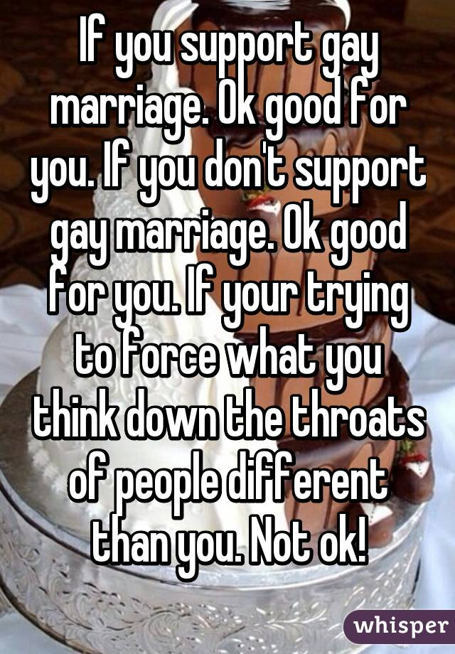 Is same sex marriage ok