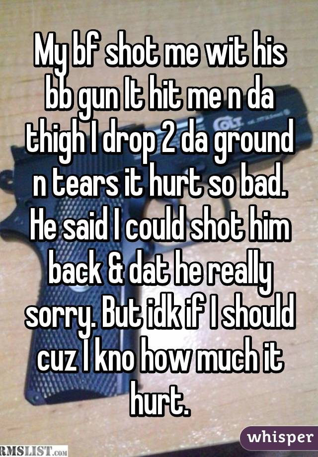 my boyfriend hit me and i hit him back