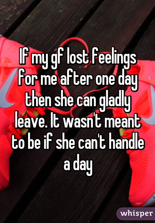 Girlfriend lost feelings for me