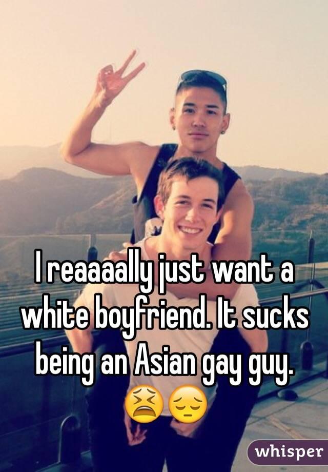 Gay asian white guy