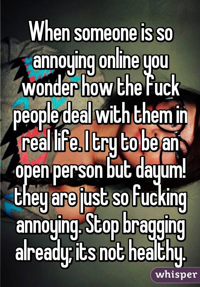 Fuck people online