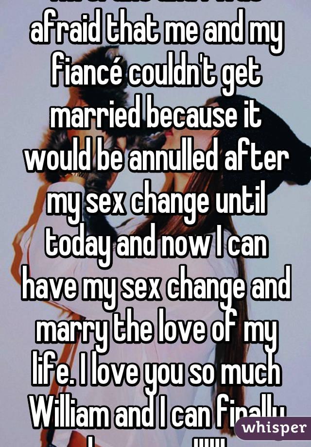 Finally had my sex change