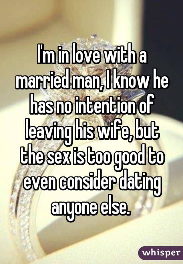 I Concern Dating A Married Man
