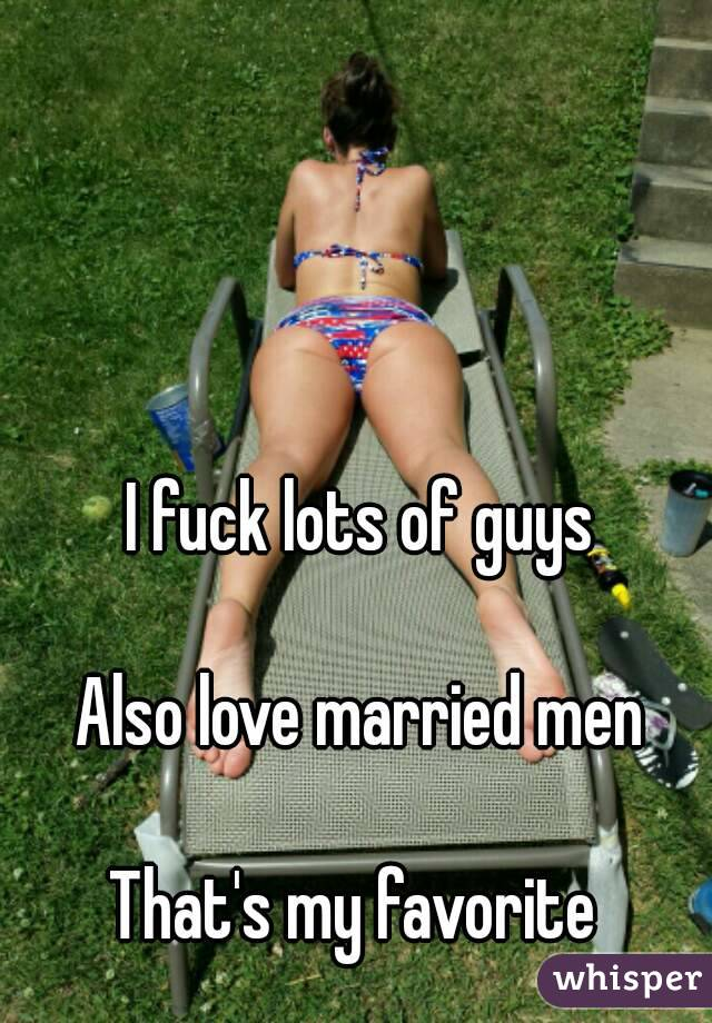 I Fuck Married Men