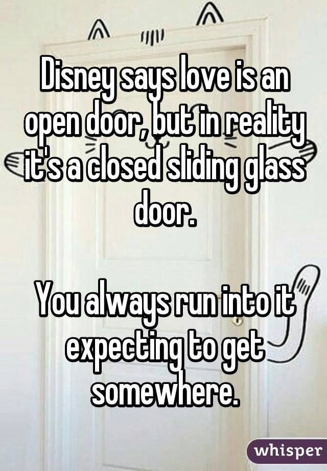 Disney Says Love Is An Open Door But In Reality Its A Closed