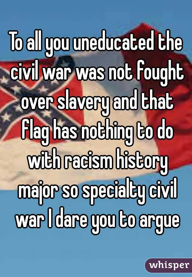 the civil war was fought over slavery