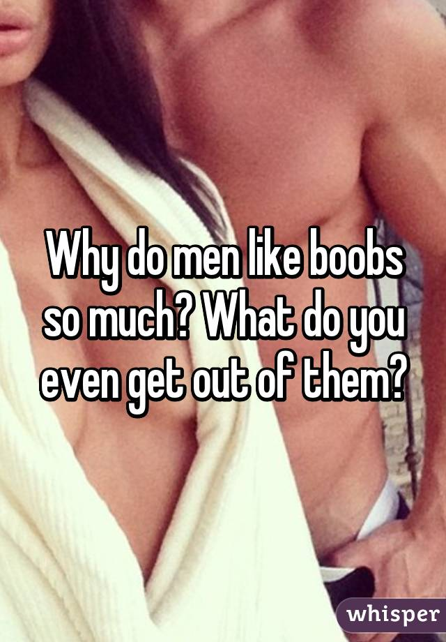 Why do men love boobs so much