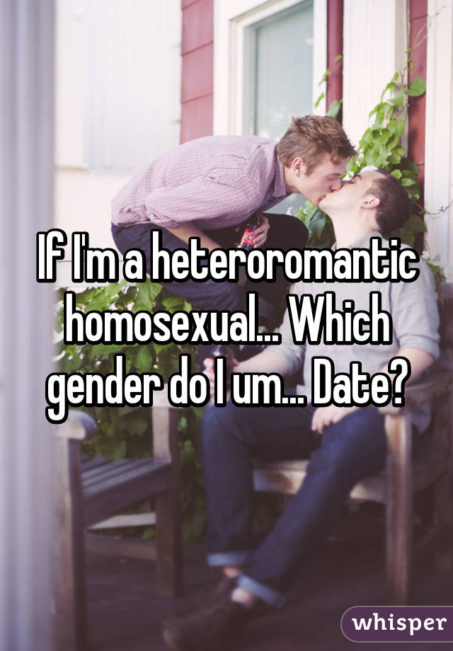 What is a heteroromantic homosexual marriage