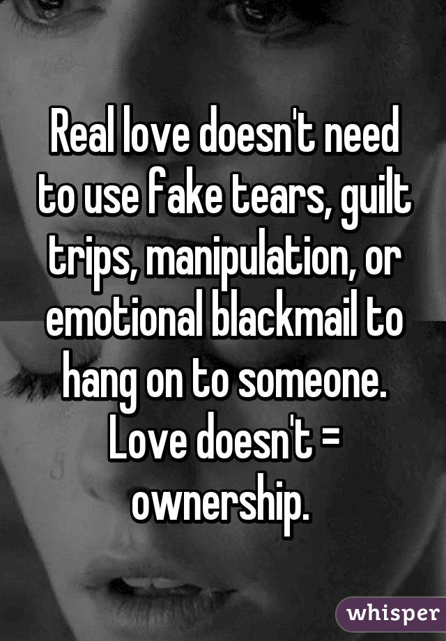 What Is Emotional Blackmail In Relationships
