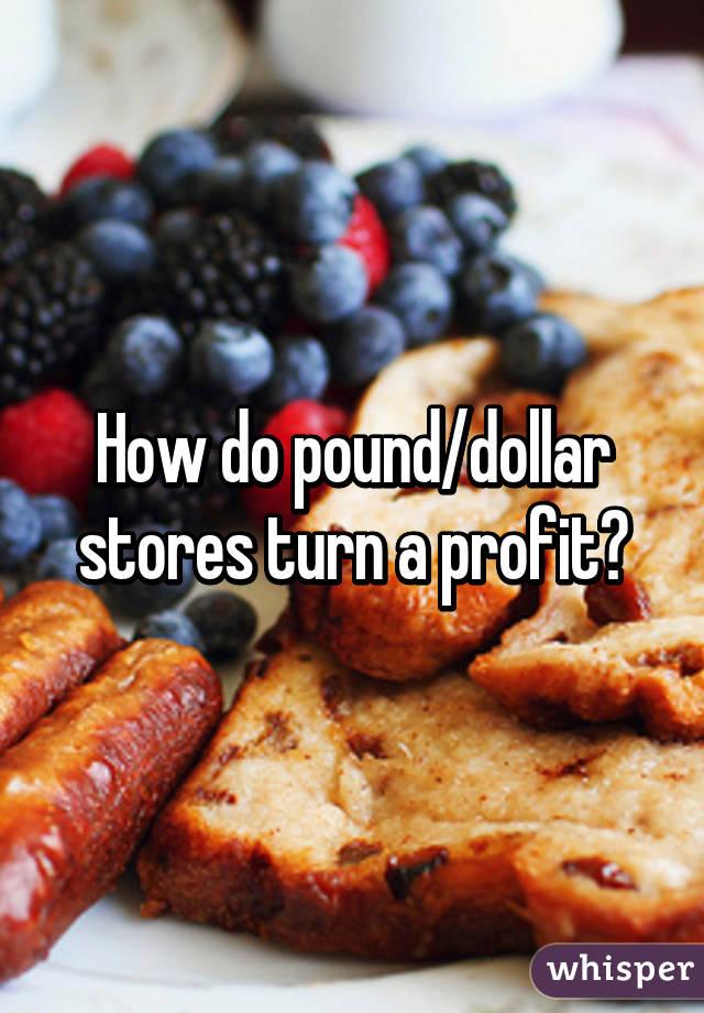 How do pound/dollar stores turn a profit?