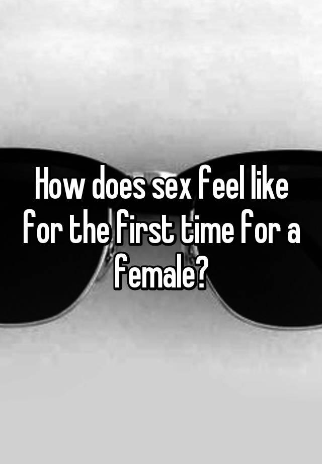 does sex feel good for women