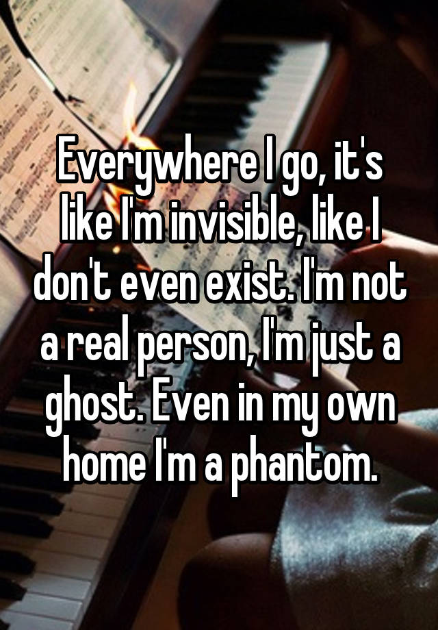 I am not at home in my own home