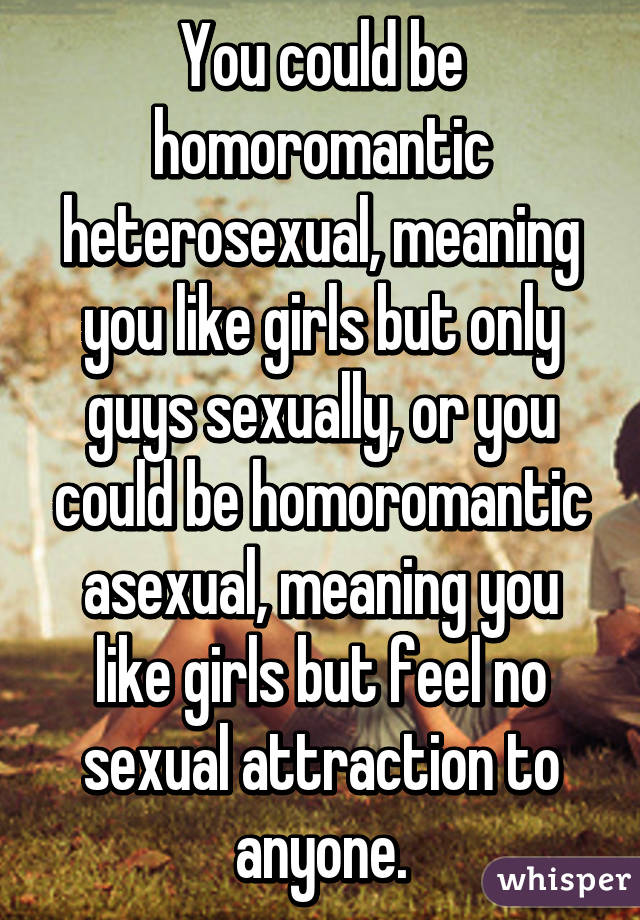 Homoromantic asexual girl
