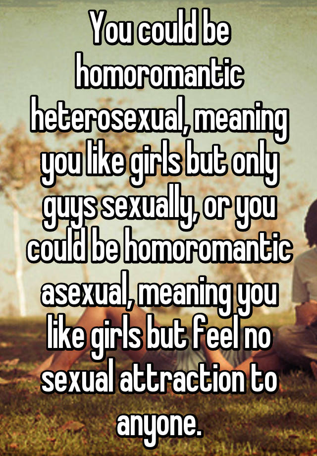 Homoromantic asexual definition plants